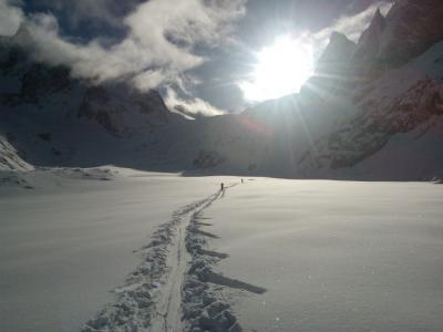 Arriving on la mer de glace